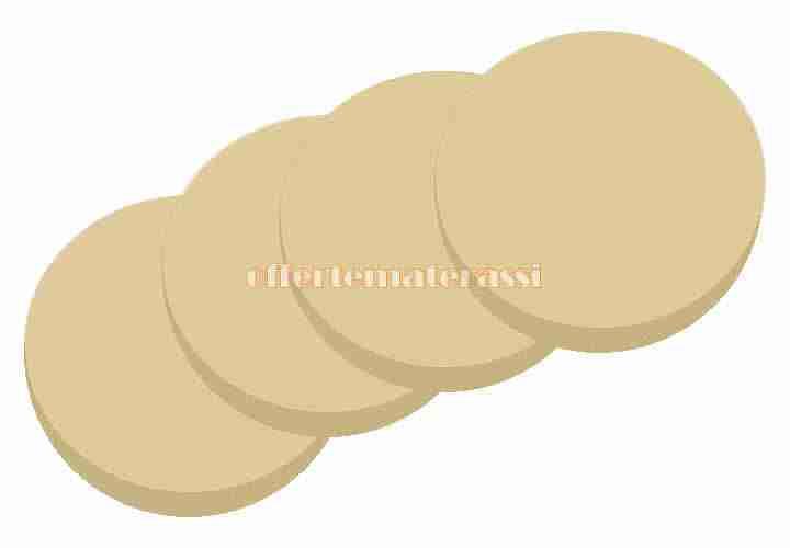 Fogli rotondi di gommapiuma pezzi in diversi diametri
