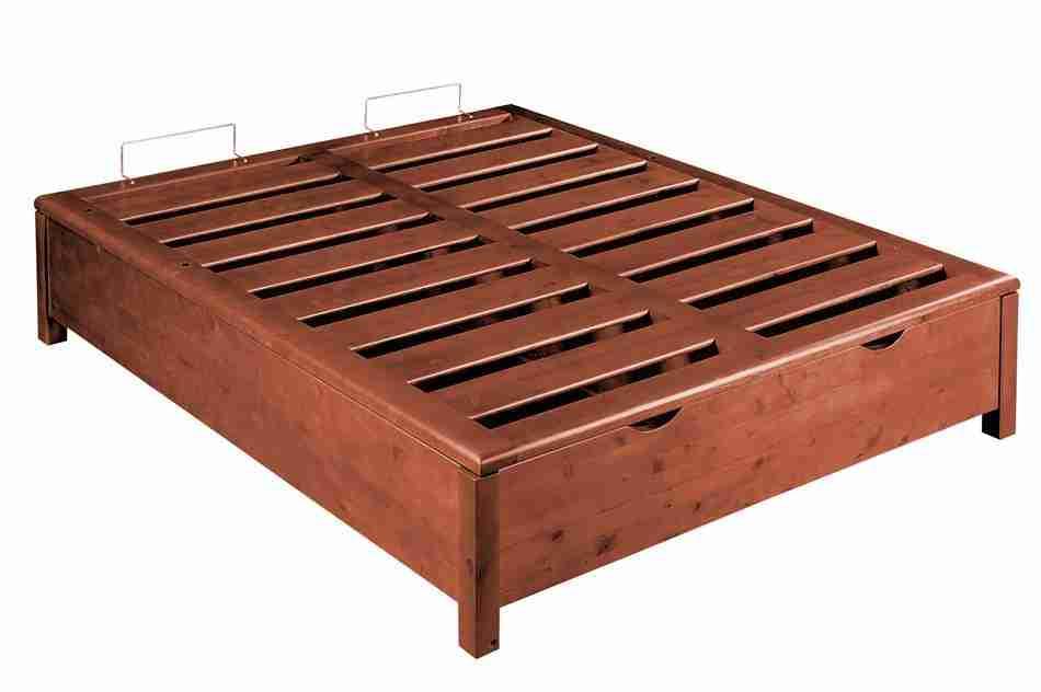 Base Letto Con Contenitore : Rete legno massello contenitore king size offertematerassi