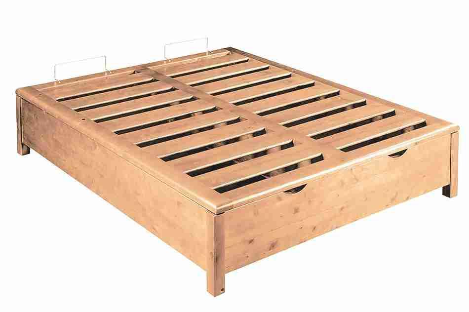 Base Letto Legno : Rete legno massello contenitore king size offertematerassi