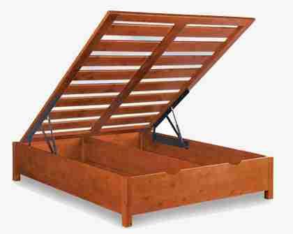 Rete legno massello contenitore matrimoniale - Rete per letto contenitore ...