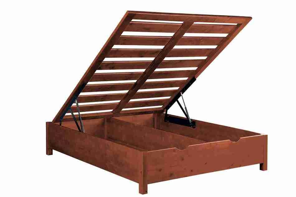 Rete legno massello contenitore King size - Offertematerassi