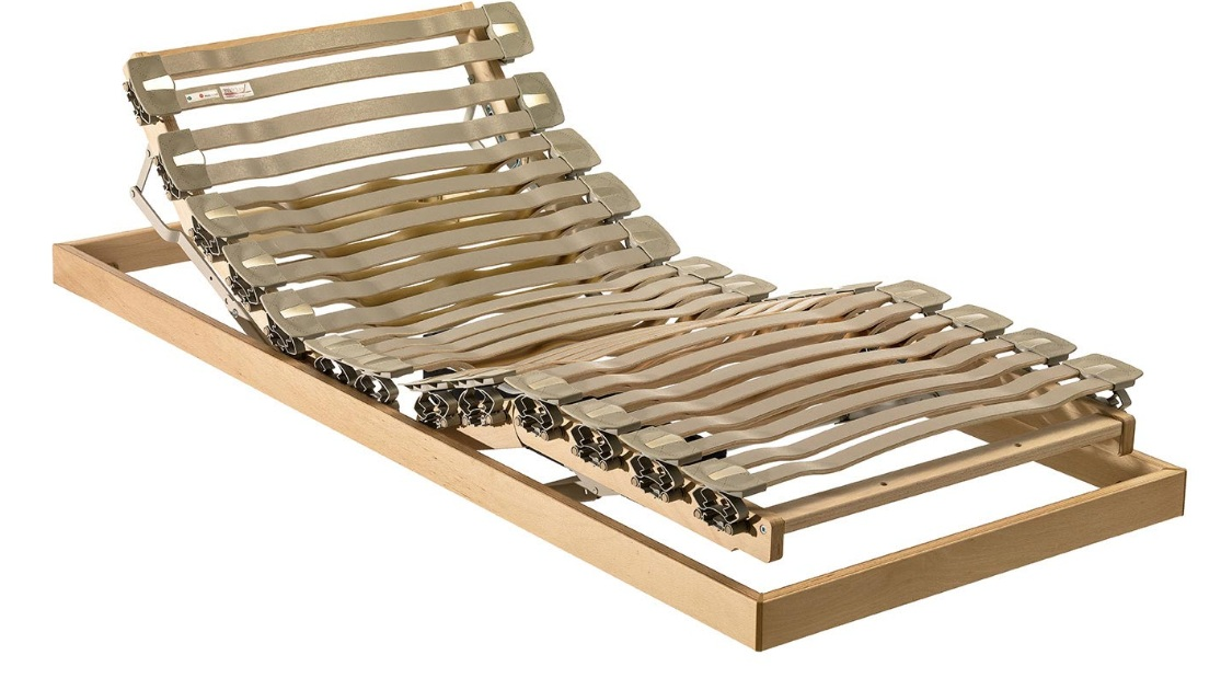 Rete legno ESSEDUE VAMPA ergonomica con alzata testa-piedi motorizzata  Singola
