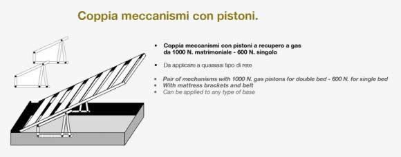 Letto Contenitore Matrimoniale Pistoni.Kit Meccanismo Completo Di Pistoni Per Letto Contenitore
