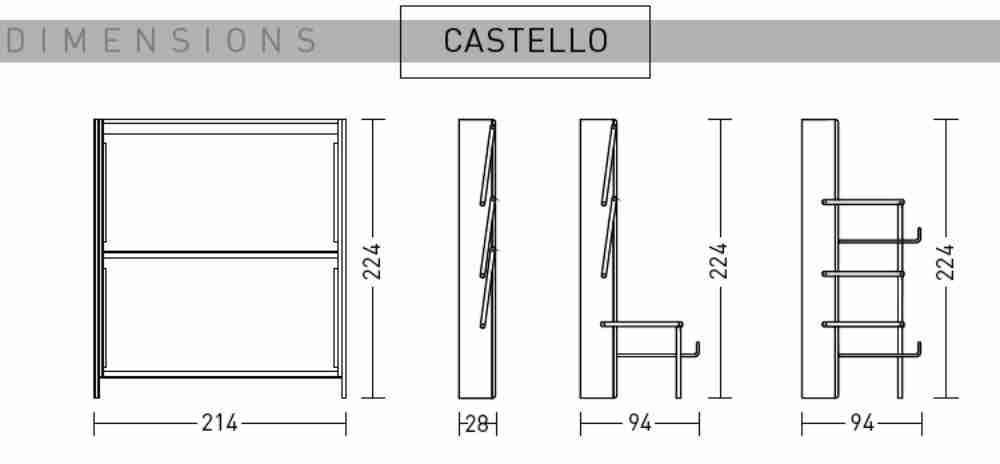 Letti A Castello Misure.Letto Castello 2002 Misure Offertematerassi