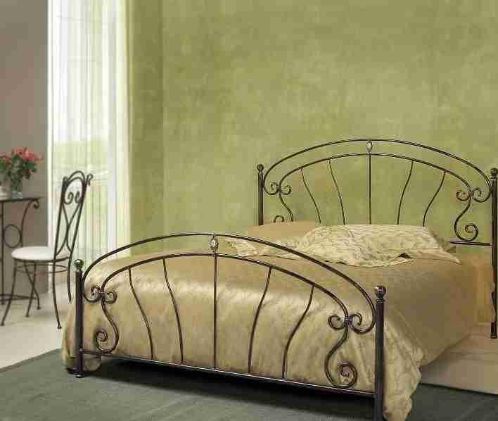 Piazza e mezza letto in ferro battuto Mistral by Cosatto