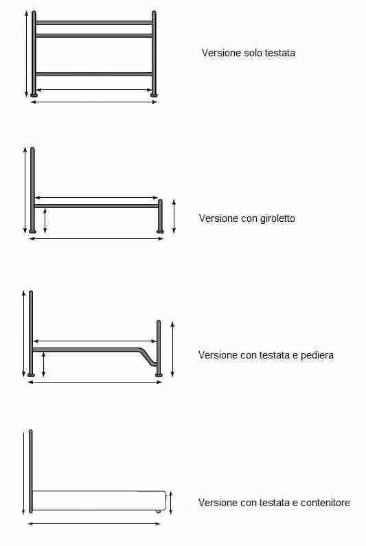 Letto in ferro battuto 90 cm modello grace vendita - Letto in ferro battuto prezzo ...