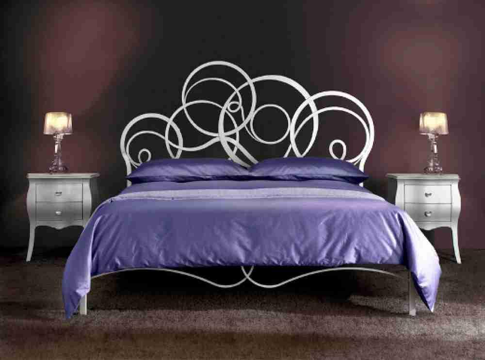 Bellissimo letto in ferro battuto matrimoniale modello AZZURRA