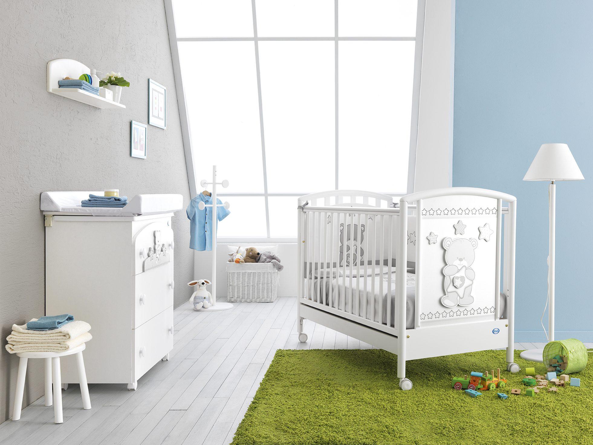Lettini Sincere Lettino Pali Maison Bebè Bianco Set Tessile Pali In Coordinato