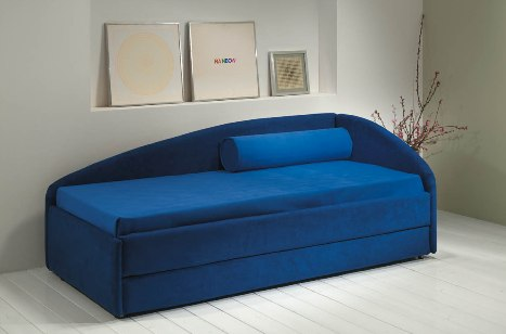 Letto divano su misura con rete inferiore estraibile Singolo XL