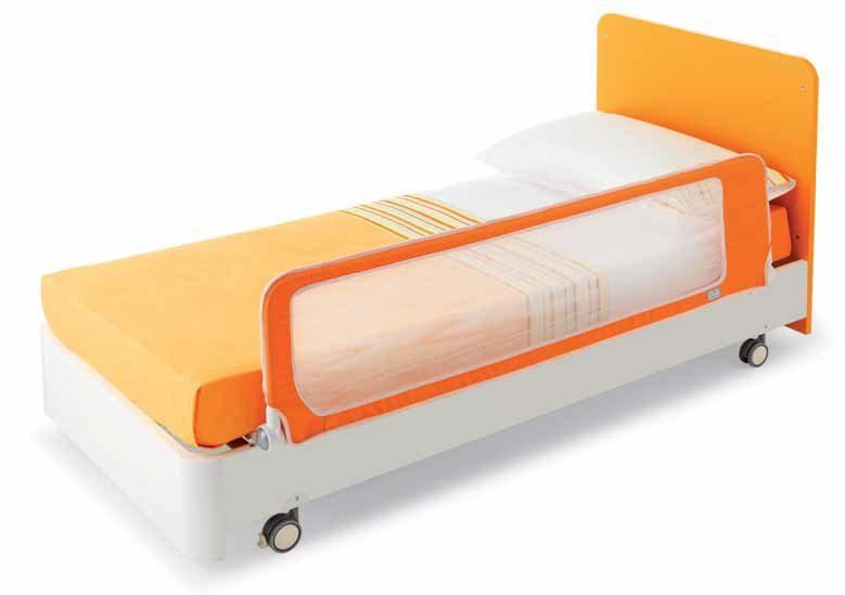 Sponde Letto Per Bambini.Barriera Letto Bimbo Di Sicurezza Pali Good 150 Cm Arancio Sabbia