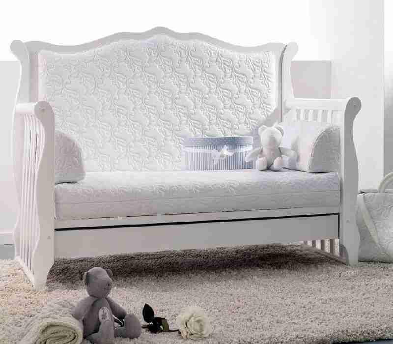 Lettino divanetto azzurra design rinascimento bianco o for Azzurra culle
