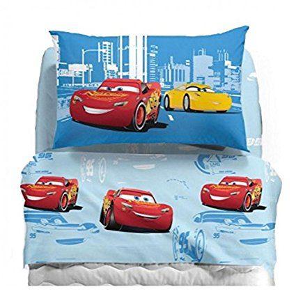Set Completo Lenzuola Cars Record Cameretta Bambino Bambina Caleffi Disney Singolo Offertematerassi