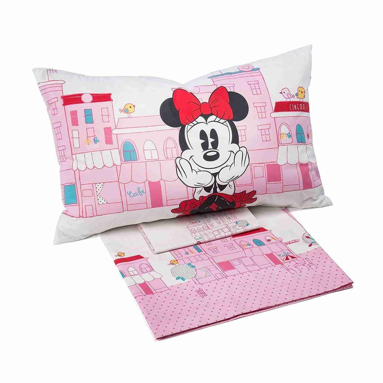 Set Completo Lenzuola Minnie City Cameretta Bambino Bambina Caleffi Disney Piazza E Mezza Offertematerassi