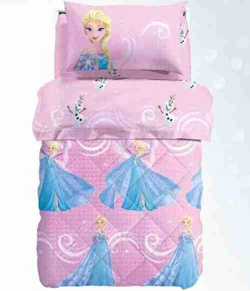 Piumone 1 Piazza E Mezza Disney.Trapunta Caleffi Invernale Frozen Disney Singola