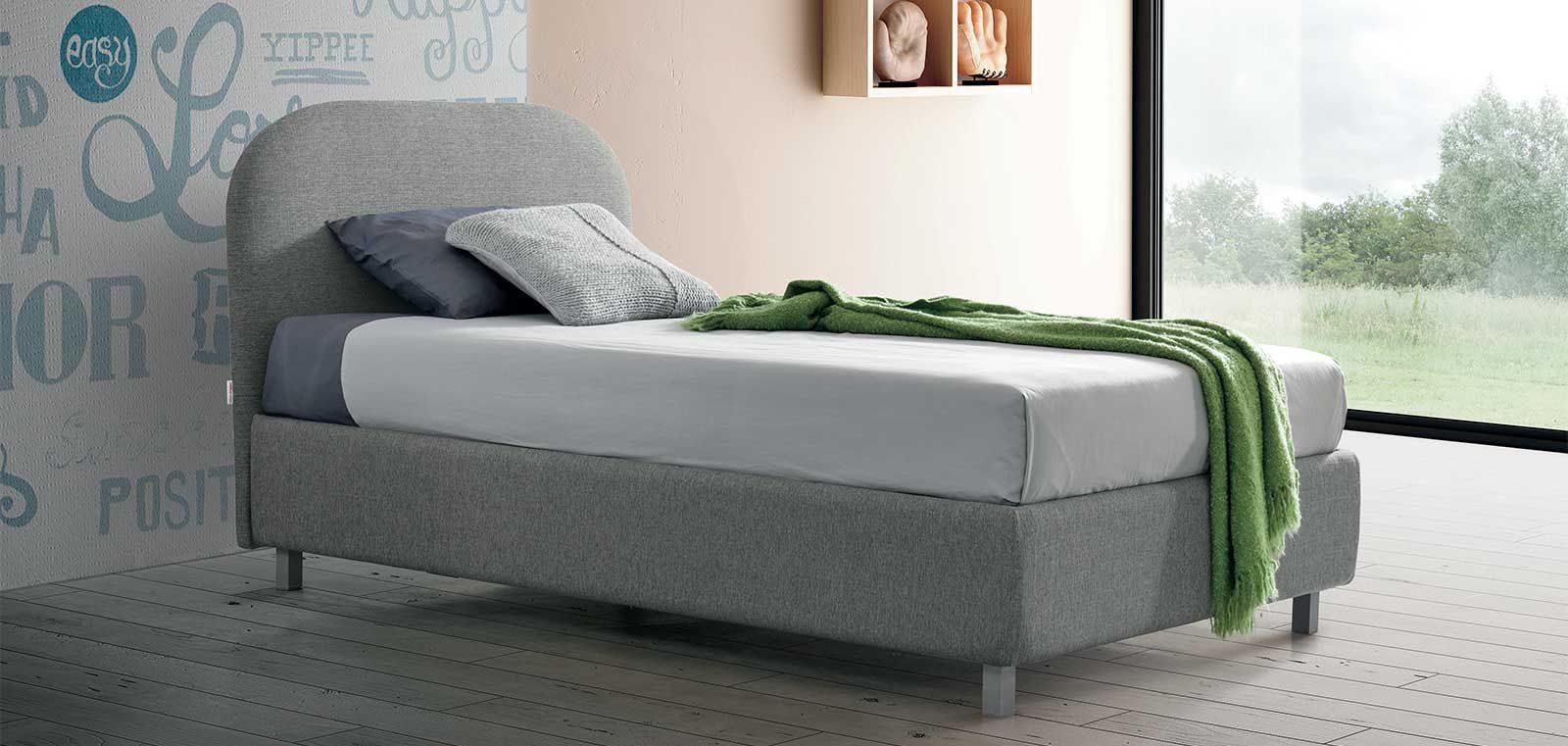 Offerta letto con contenitore piazza mezza Bianca STILFAR