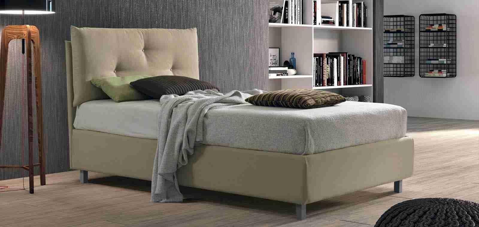 Offerta letto contenitore 90 cm singolo imbottito Fabiola STILFAR zen
