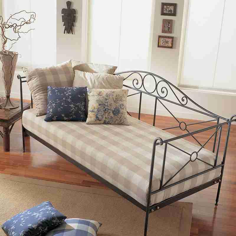 Letto divano ferro battuto con rete larga 90 cm maggioni Marlene