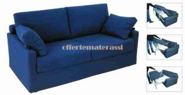 Divani letto Roma - Meccanismo, materasso e tappezzeria personalizzabile